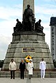 The Imperial Couple of Japan lay a wreath before the Rizal Monument (04).jpg