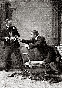 "Rappresentazione di ""The Importance of Being Earnest"" (1895)."