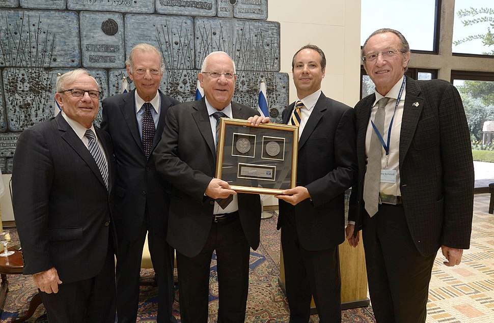 The Israel Bonds deligation in Israel with Reuven Rivlin