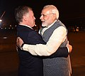 The King of Jordan His Majesty Abdullah II Bin Al-Hussein being welcomed by the Prime Minister, Shri Narendra Modi, on his arrival, in New Delhi on February 27, 2018 (1).jpg
