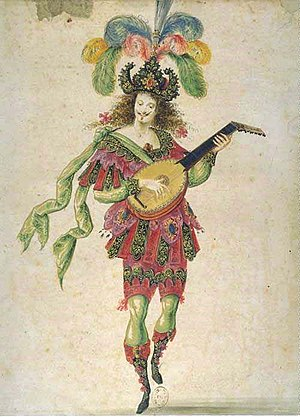 History of music in Paris - Lute player from the Ballet de la Nuit (1653)