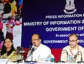 The Minister of State (Independent Charge) for Consumer Affairs, Food and Public Distribution, Professor K.V. Thomas addressing the All India Editors Conference on Social Sector Issues.jpg