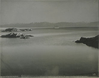 Esquimalt - The Olympic Mountains, from Esquimalt, 1900.