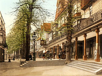 Royal Tunbridge Wells - Photochrom of the Pantiles, 1895