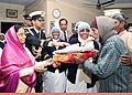 The President, Smt. Pratibha Devisingh Patil distributed sweets and blankets to the old and needy persons of the Nirmal Hriday Home for the Destitutes in Delhi on December 19, 2007.jpg