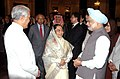 The President, Smt. Pratibha Devisingh Patil with the Prime Minister, Dr. Manmohan Singh at an Iftar Party hosted by her, in New Delhi on September 11, 2009.jpg