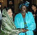 The President of India, Smt. Pratibha Devisingh Patil with the winner of Indira Gandhi Award for Peace, Disarmament and Development, Prof. Wangari Mathai, in New Delhi on November 19, 2007.jpg