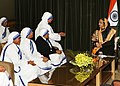 The President of India Smt. Pratibha Devisingh Patil, meeting the representatives of Missionaries for Charities from India, at Damascus, in Syria on November 28, 2010.jpg