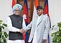 The Prime Minister, Dr. Manmohan Singh meeting the President of Nepal, Dr. Ram Baran Yadav, in New Delhi on February 02, 2011.jpg