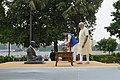 The Prime Minister, Shri Narendra Modi and the Prime Minister of Japan, Mr. Shinzo Abe at Sabarmati Ashram, in Ahmedabad, Gujarat on September 13, 2017 (2).jpg