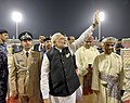 The Prime Minister, Shri Narendra Modi during the Community Event, at Sultan Qaboos Sports Complex, in Muscat, Oman on February 11, 2018.jpg