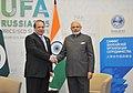 The Prime Minister, Shri Narendra Modi meeting the Prime Minister of Pakistan, Mr. Nawaz Sharif, on the sidelines of the SCO Summit, in Ufa, Russia on July 10, 2015.jpg