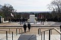 The Prime Minister of Japan lays a wreath at the Tomb of the Unknown Soldier in Arlington National Cemetery (32007132773).jpg
