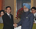 The Prime Minister of Thailand, Mr. Somchai Wangsawat meeting the Prime Minister, Dr. Manmohan Singh, in New Delhi on November 13, 2008 (cropped).jpg
