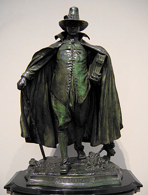 Christmas in Puritan New England - Image: The Puritan by Augustus Saint Gaudens