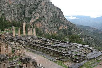 Delphi Inscription - The Temple of Apollo at Delphi