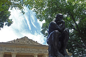 """English: """"The Thinker,"""" by Rodin, in..."""