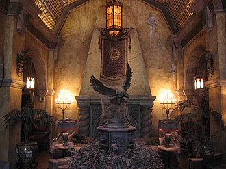 The Twilight Zone Tower of Terror - The lobby of The Hollywood Tower Hotel at  Disney's Hollywood Studios, May 2010
