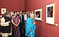 The Union Minister for Culture, Smt. Chandresh Kumari Katoch inaugurated the exhibition 'The Last Harvest, in New Delhi on November 19, 2012. The Secretary, Ministry of Culture, Smt. Sangita Gairola is also seen.jpg