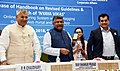 The Union Minister for Electronics & Information Technology and Law & Justice, Shri Ravi Shankar Prasad launching the mobile app of 'Nyaya Vikas' the online monitoring system, in New Delhi.JPG