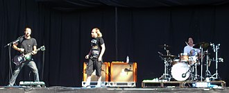 Quinn Allman - Quinn Allman (far left) performing with The Used at Reading Festival in 2007.