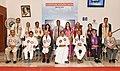 The Vice President, Shri M. Venkaiah Naidu with the faculty members of the ICFAI University, in Dehradun, Uttarakhand.JPG