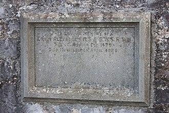Edwin Alexander - The grave of Edwin Alexander, Inveresk Cemetery
