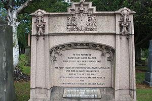 Usher baronets - The grave of Sir John Usher, Baronet, Grange Cemetery