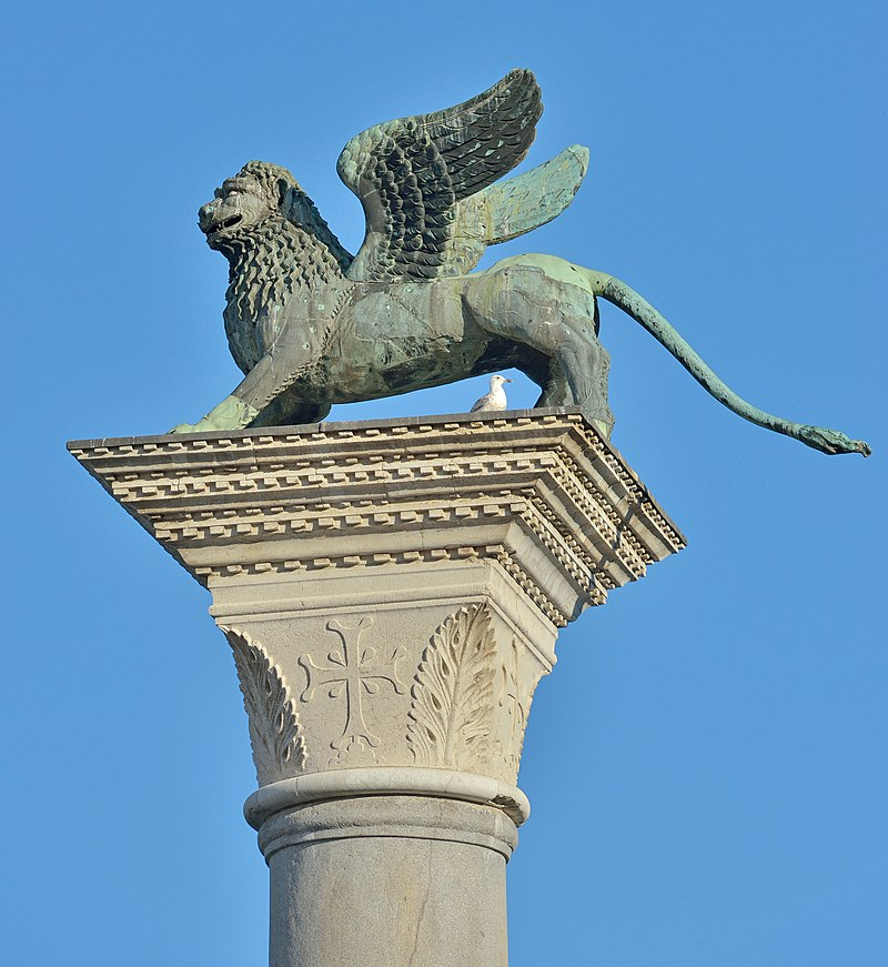 The lion of San Mark on Piazzetta San Marco Venice.jpg