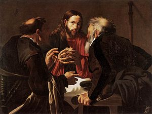 Hendrick ter Brugghen - The Supper at Emmaus (1621), 109 x 141 cm, Sanssouci Picture Gallery, Berlin