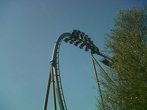 The Swarm (roller coaster) - Image: The swarm drop, thorpe park, england