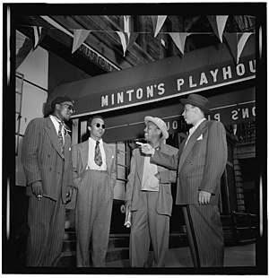 1947 in music - Musicians including Thelonious Monk and Roy Eldridge in New York City in 1947