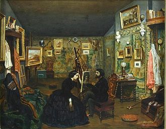 "Alexandru Tzigara-Samurcaș - Theodor Aman, În atelierul artistului (""In the Artist's Studio"")"