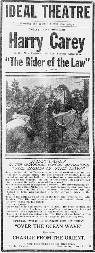 Rider of the Law - Newspaper advertisement