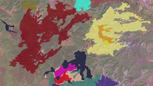 File:This multi-colored animation shows the different fires that ignited, combined and spread throughout Yellowstone from Jun. 30 to Oct. 2, 1988.ogv