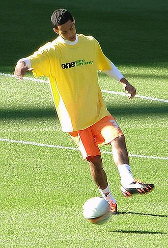 Tom Ince - Ince warming up for Blackpool in 2011