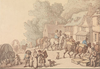 Scene Outside an Inn
