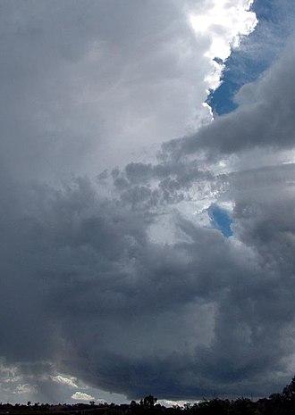Air-mass thunderstorm - An air-mass thunderstorm over Wagga Wagga.