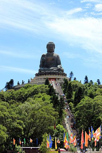 Tian Tan Buddha - Tian Tan Buddha from afar
