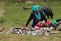 Tibetan woman selling ornaments.jpg