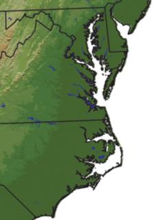 Tidewater (region) Reference to the north Atlantic coastal plain region