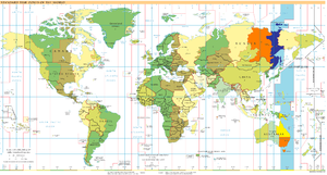 Chamorro Time Zone - UTC+10 highlighted on a world map.