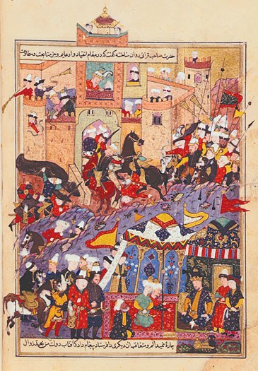 Timur during attack on Balkh 1370