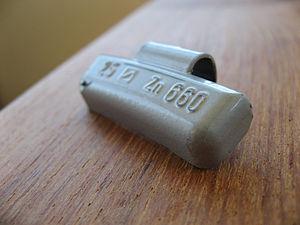Tire balance - 25 g zinc tire weight