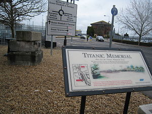 Titanic memorial sign.JPG