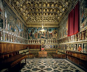 Chapter house - Late Renaissance grandeur at Toledo Cathedral, with wooden coffered ceiling
