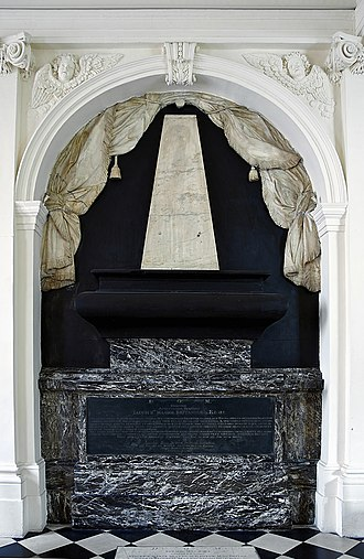 James Drummond, 4th Earl of Perth - Image: Tomb Brain James II England VII Scotland Scots college Paris