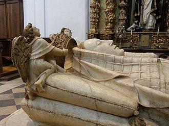 Beatrice of Portugal - The effigy of Queen Beatrice, Monastery of Sancti Spiritus in Toro, Zamora, Spain.