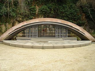 Francoist Catalonia - Tomb of Lluís Companys at Fossar de la Pedrera.