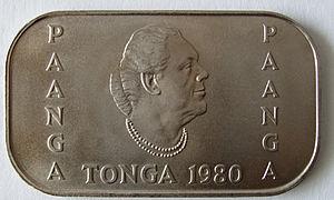 Sālote Tupou III - Tongan 1 paʻanga coin depicting Salote Tupou III.